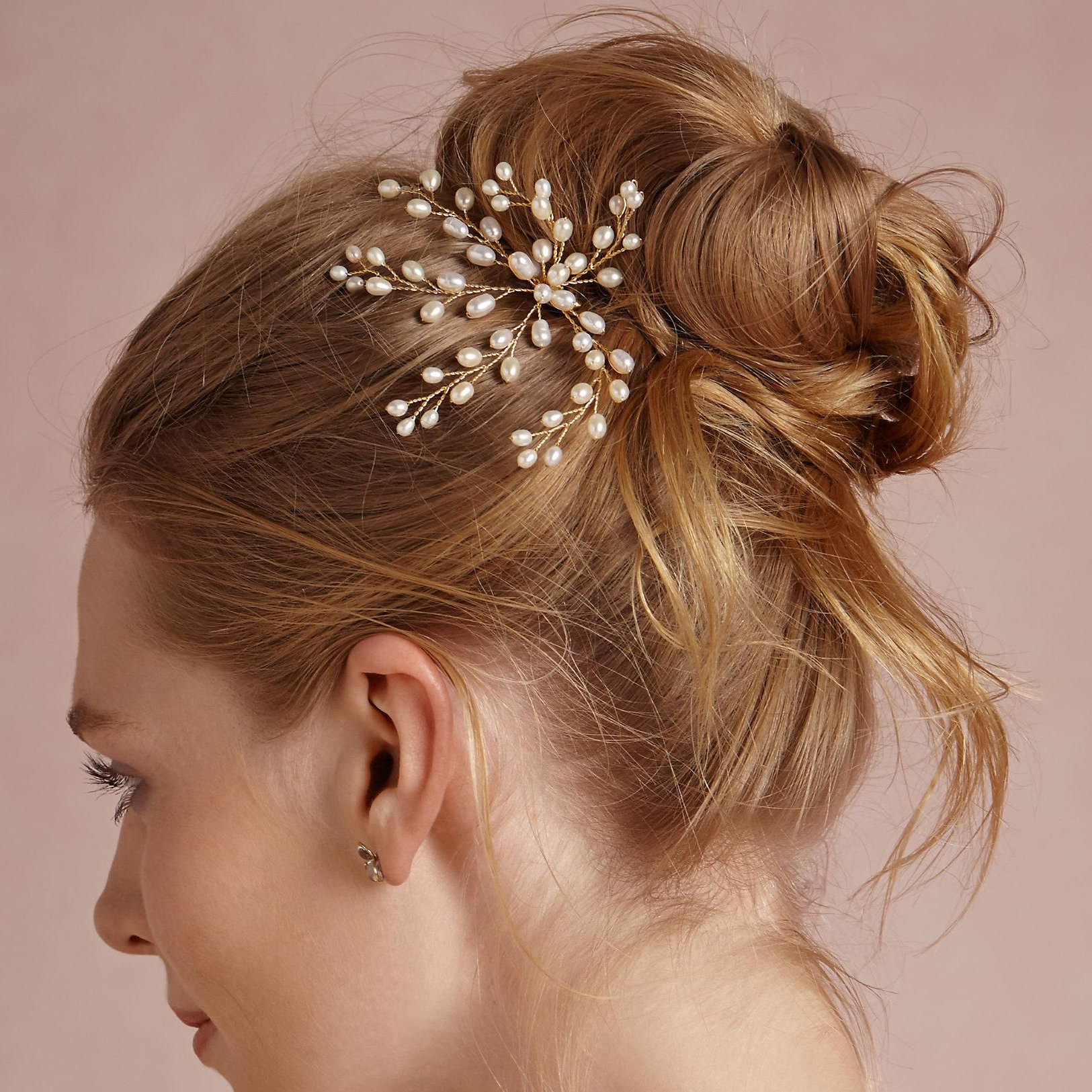 Latest Pearls Bridal Hairstyles For Cheap Wedding Hair Pins – Discount Cheap Pearl Bridal Hair Pin Real (Gallery 5 of 20)