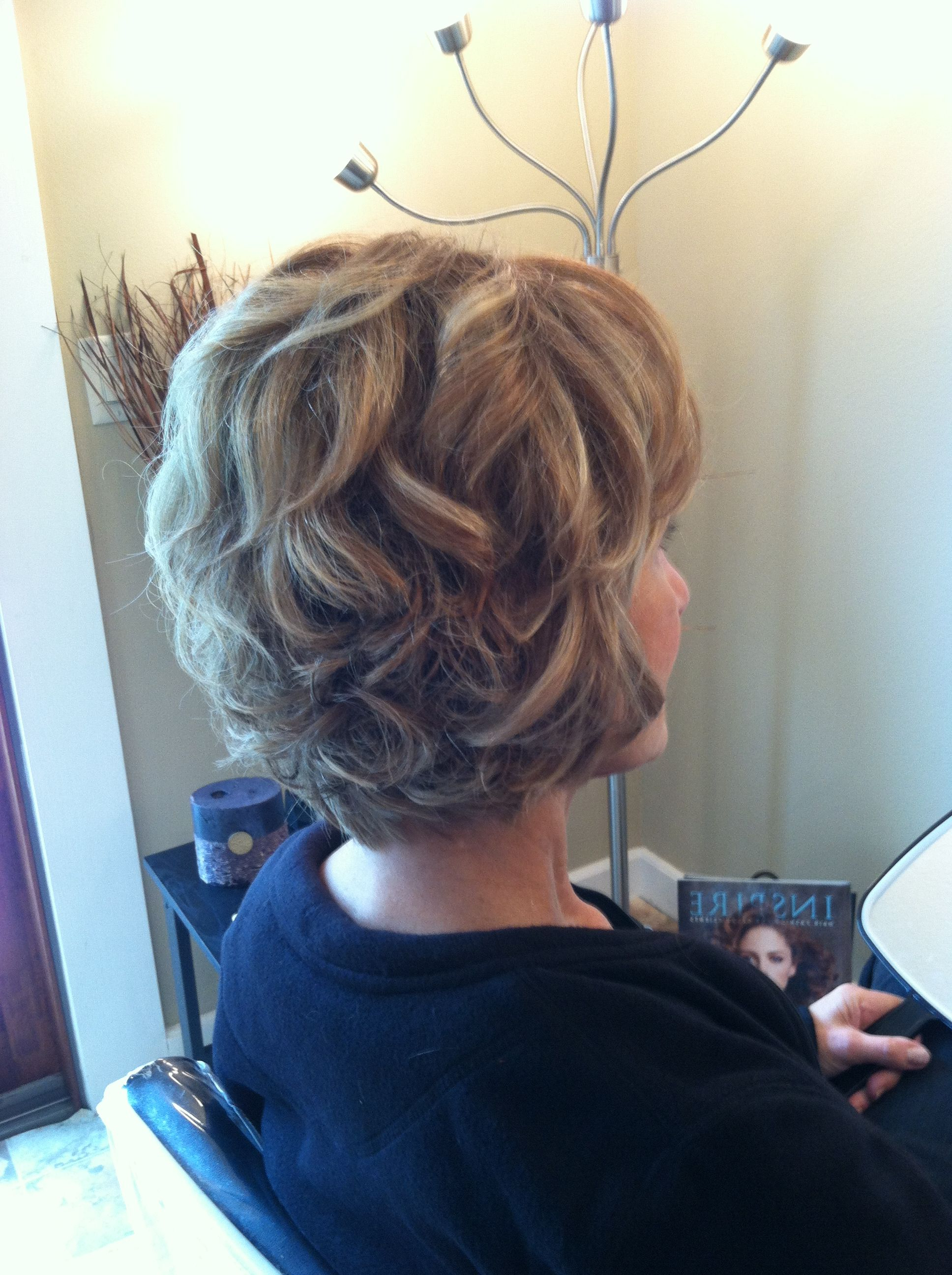 Latest Short Spiral Waves Hairstyles For Brides Within Norma's Night Out. Good Look For Short Hair; Mother Of The Bride (Gallery 16 of 20)