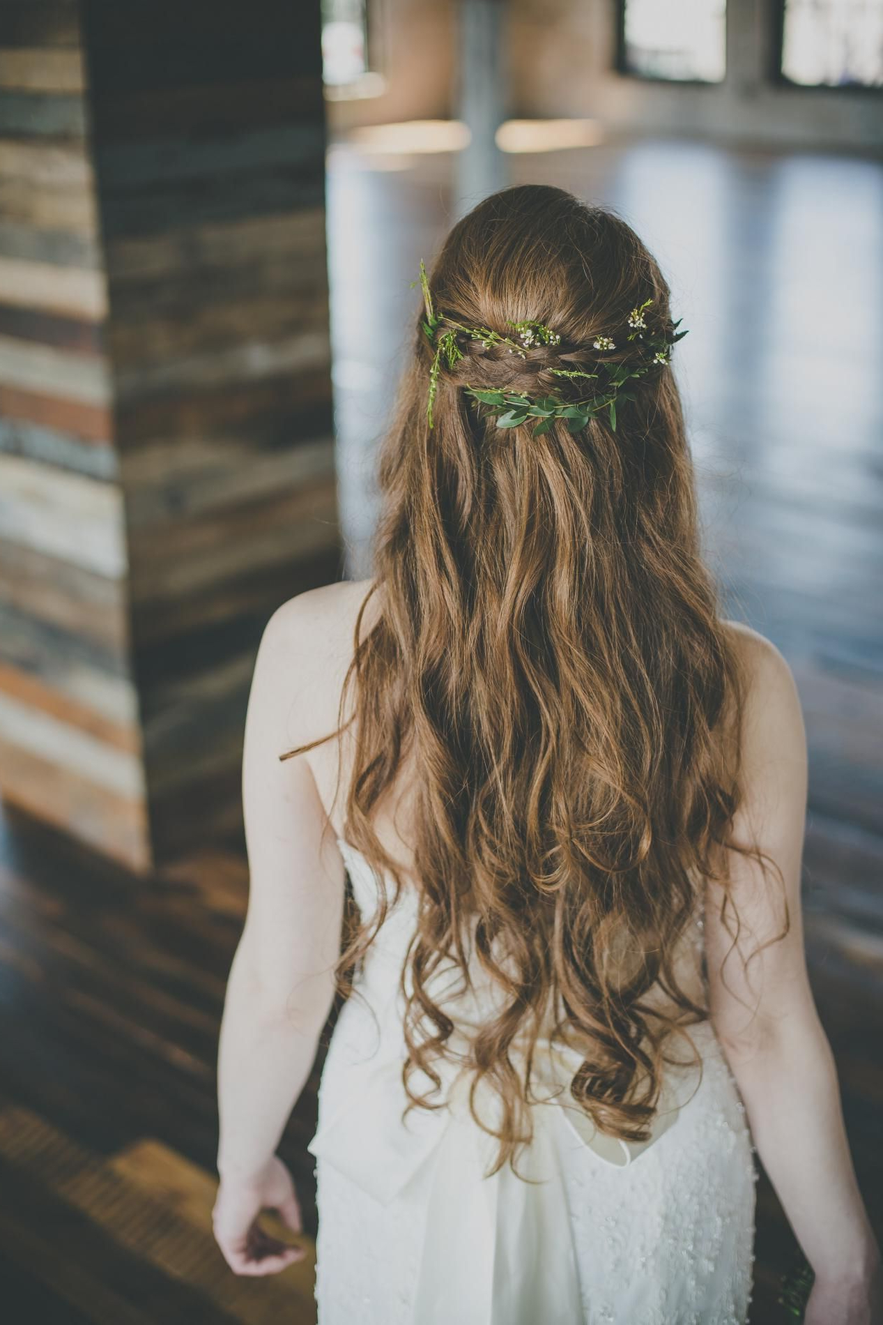 Latest Simple Laid Back Wedding Hairstyles Within Greenery In Bride's Hair/ Greek Goddess Inspired Bridal Hair/ Simple (Gallery 6 of 20)