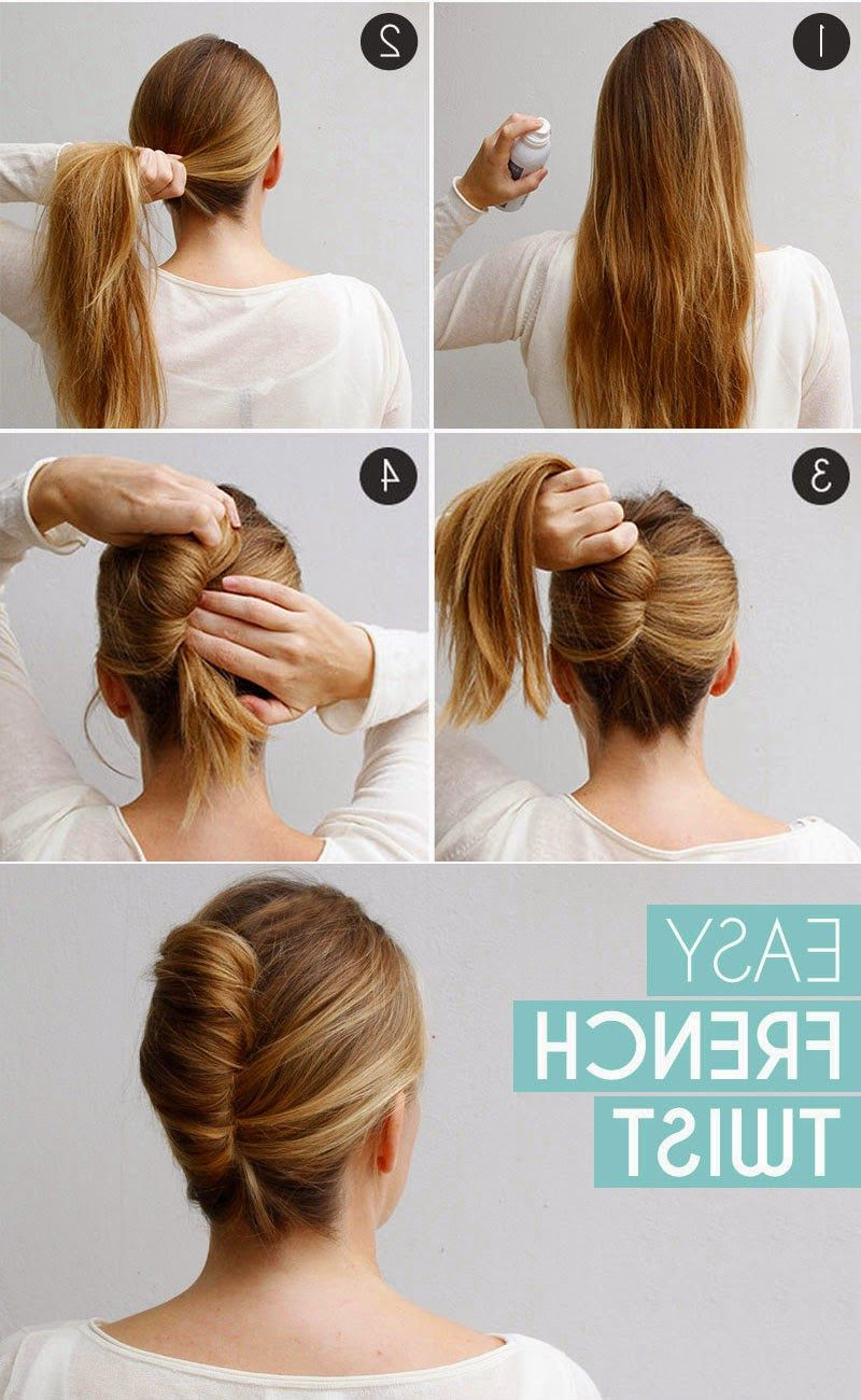 Latest Sleek French Knot Hairstyles With Curls Within Long Hair French Twist Bun In Few Minutes Stepstep (View 8 of 20)