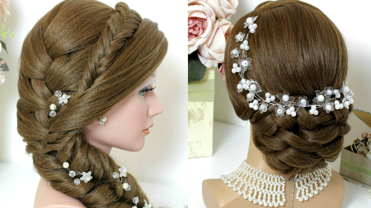 Latest Two Toned Twist Updos For Wedding In 2 Hairstyles For Long Hair Tutorial. Bridal Updo, Mermaid Side Braid (Gallery 19 of 20)