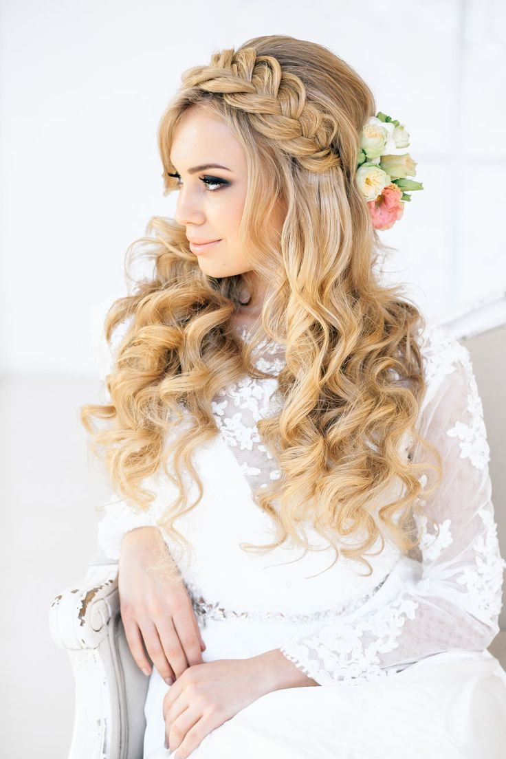 Latest Wedding Bridal Braided Hairstyles 2019  Stepstep With Best And Newest Curly Bob Bridal Hairdos With Side Twists (Gallery 20 of 20)