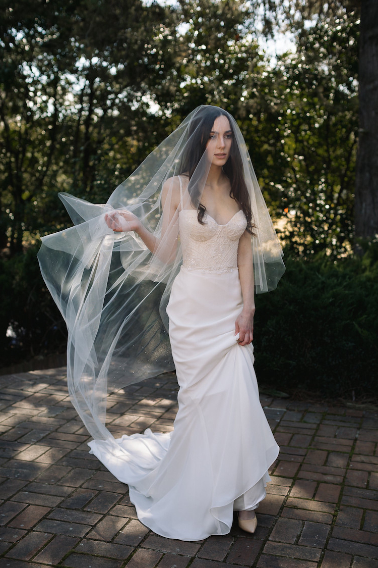 Long Wedding Veils (View 8 of 20)