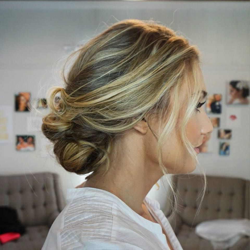 Loose / Beachy / Effortless Bridal Hair Bridal Hair / Bride Updo In Fashionable Twisted Side Updo Hairstyles For Wedding (View 6 of 20)