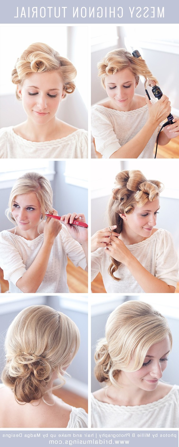 Messy Bun Hairstyle Tutorial: Updos For Prom – Popular Haircuts Inside Widely Used Messy Bun Wedding Hairstyles For Shorter Hair (View 8 of 20)