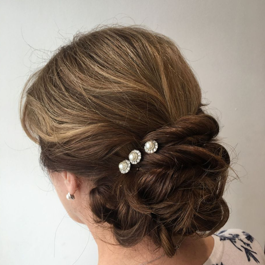 Most Current Embellished Twisted Bun For Brides Within 50 Ravishing Mother Of The Bride Hairstyles In  (View 17 of 20)