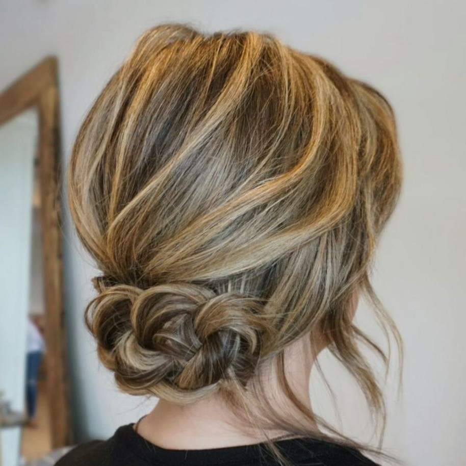 Most Current Fancy Chignon Wedding Hairstyles For Lob Length Hair Within 60 Trendiest Updos For Medium Length Hair (View 12 of 20)