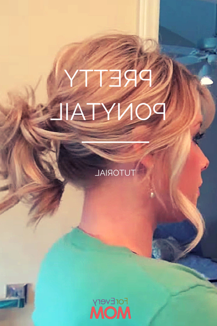 Most Current Fancy Flowing Ponytail Hairstyles For Wedding Regarding Love This Hair Tutorial For A Pretty Ponytail Hairstyle! Works For (View 9 of 20)
