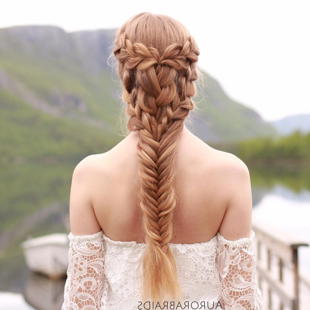 "Most Current Mermaid Inspired Hairstyles For Wedding Throughout Mermaid Meets Khaleesi"" Braid On Elise, Inspired (View 12 of 20)"
