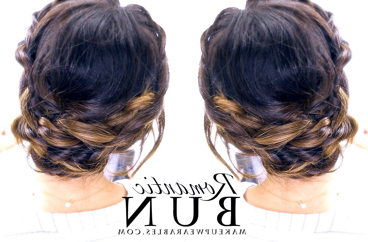 Most Current Messy Buns Updo Bridal Hairstyles With Romantic Braided Updo (View 12 of 20)