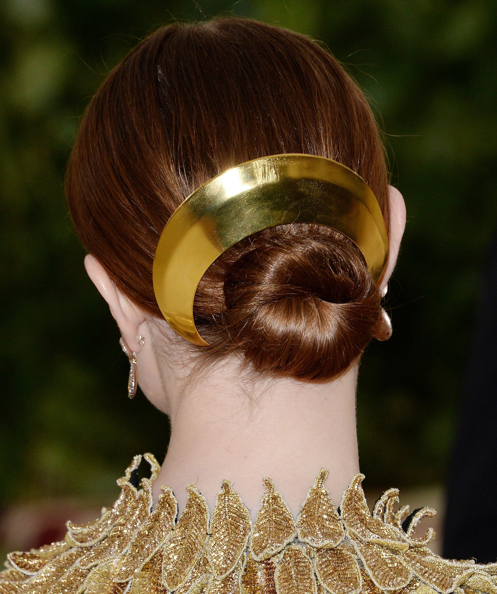 Most Current Sleek Low Bun Rosy Outlook Wedding Updos Pertaining To 12 Fabulous Updos For Medium Hair (View 18 of 20)