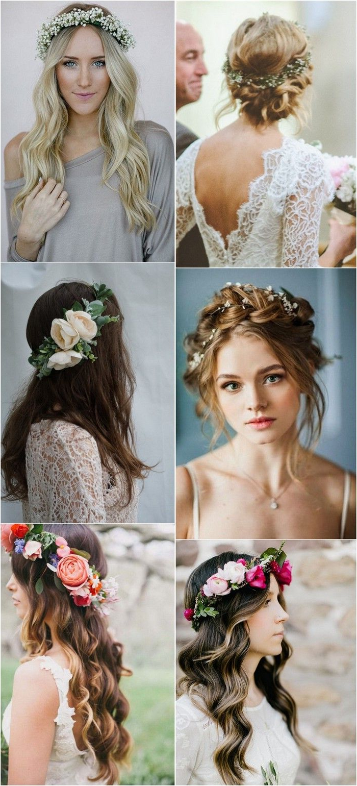 Most Current Tender Bridal Hairstyles With A Veil For Top 10 Wedding Hairstyles With Flower Crown Veil For (View 7 of 20)