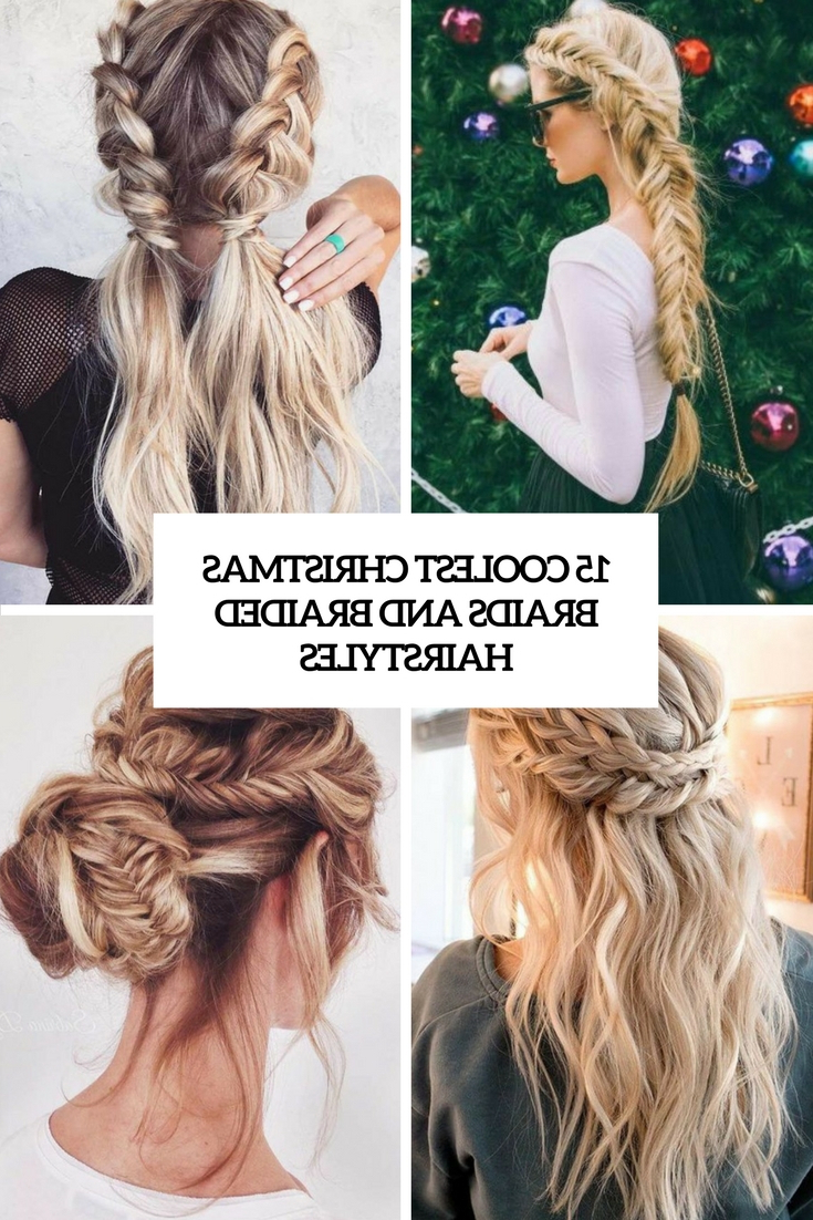 Most Popular Diagonal Waterfall Braid In Half Up Bridal Hairstyles In 15 Coolest Christmas Braids And Braided Hairstyles – Styleoholic (View 11 of 20)