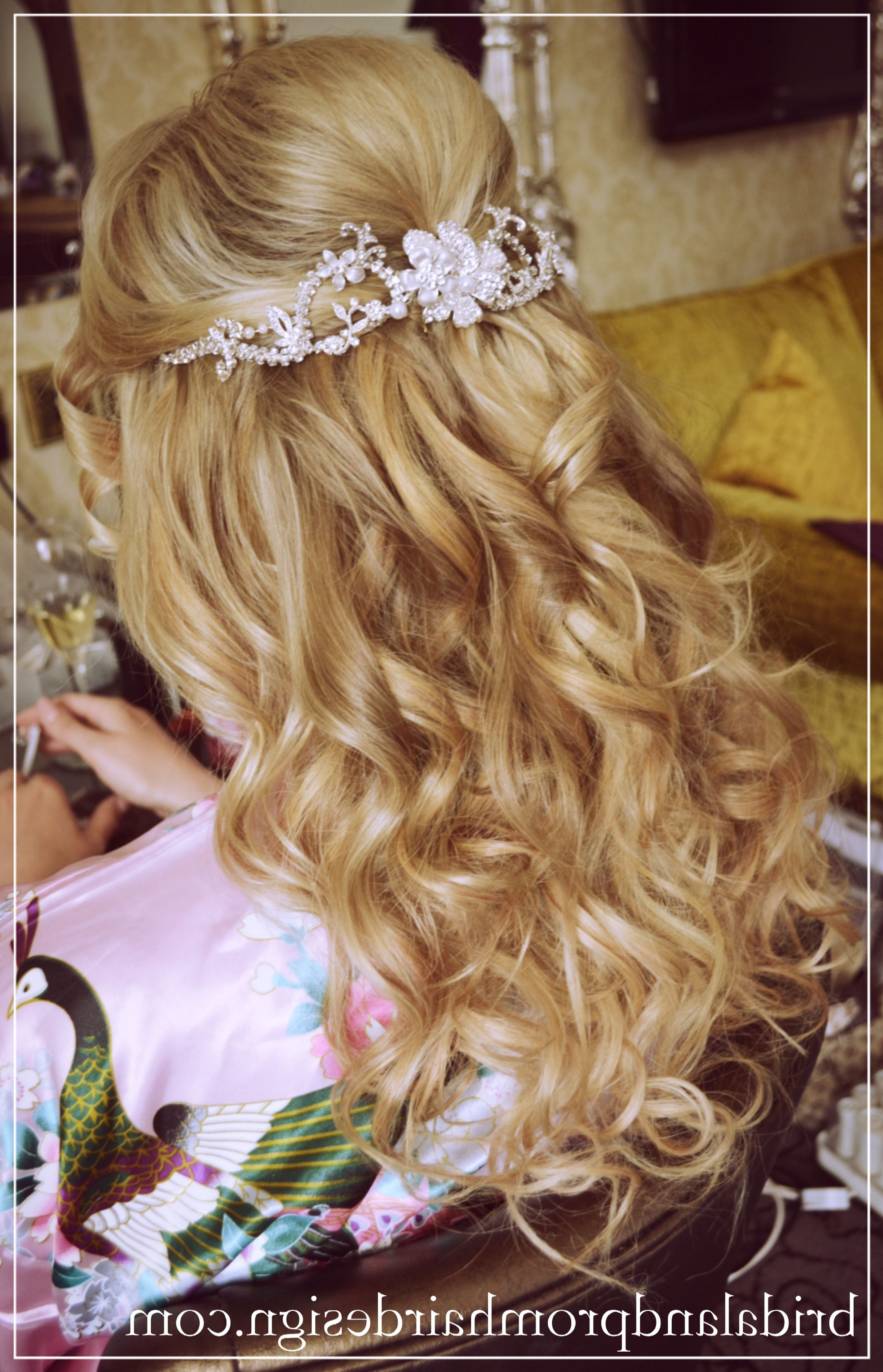Most Popular Half Up Wedding Hairstyles With Jeweled Clip Throughout My Real Brides, Wedding Hair Half Up Half Down Using Human Hair Clip (View 6 of 20)