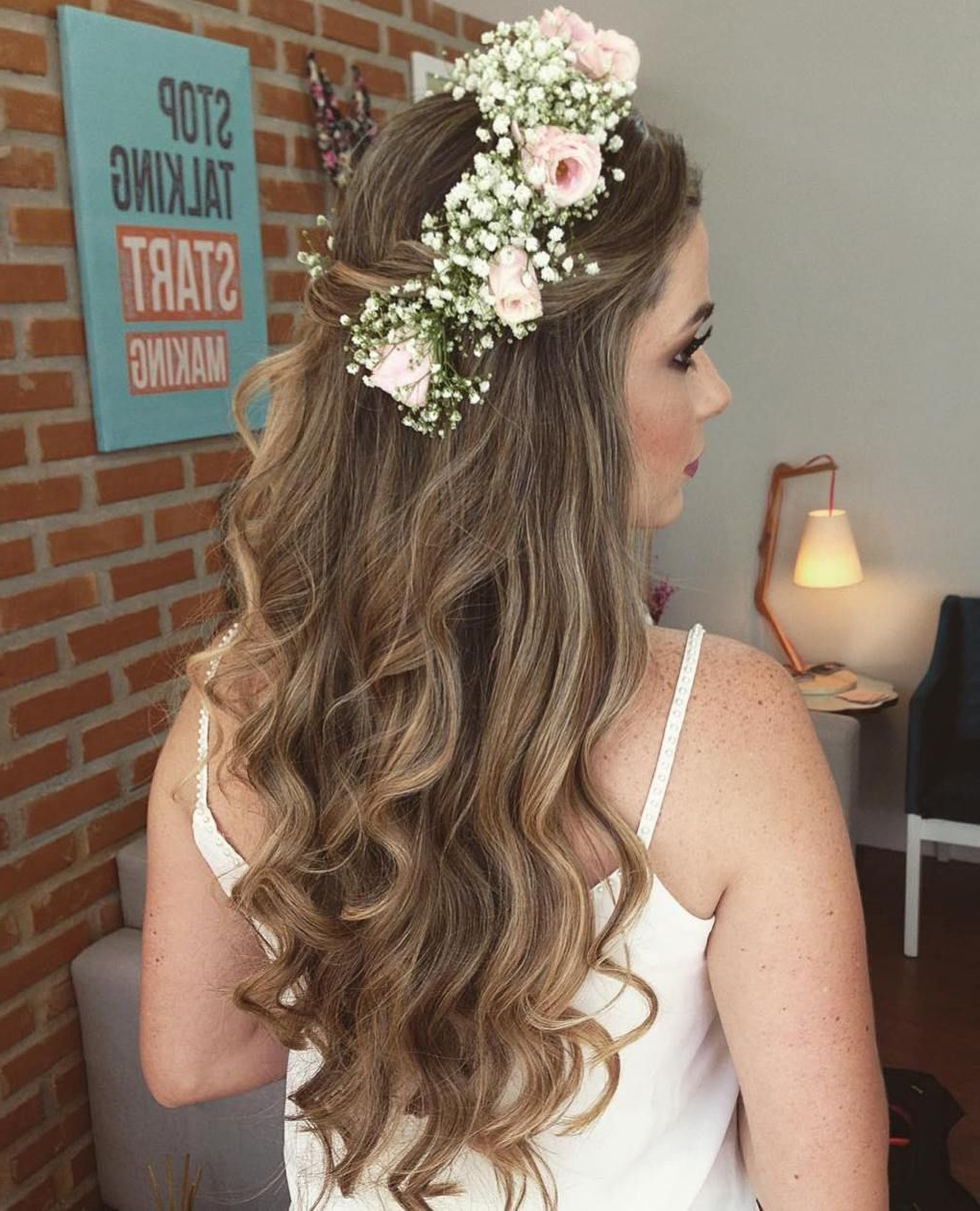Most Popular Teased Half Up Bridal Hairstyles With Headband Within Half Up Half Down Wedding Hairstyles – 50 Stylish Ideas For Brides (View 8 of 20)