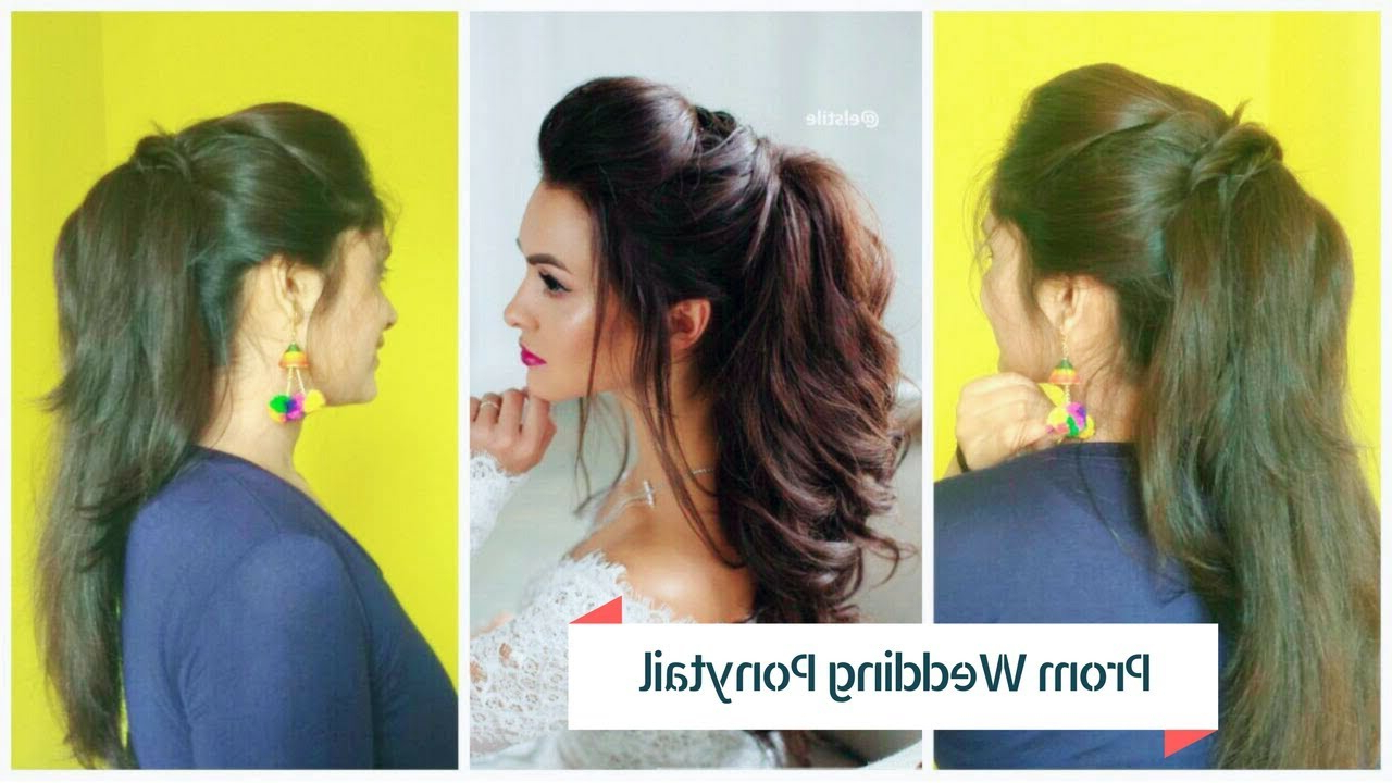 Most Popular Voluminous Half Ponytail Bridal Hairstyles Within ☆Easy Prom Ponytail Hairstyle For Bride (View 12 of 20)