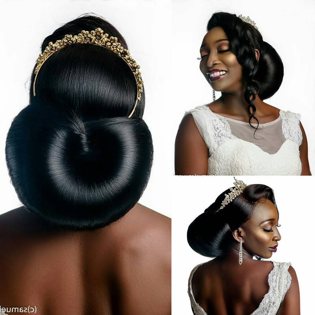 Most Popular Wedding Low Bun Bridal Hairstyles Pertaining To Bridal Hairstyles: 41 Wedding Hairstyles For Black Women – Click (View 12 of 20)