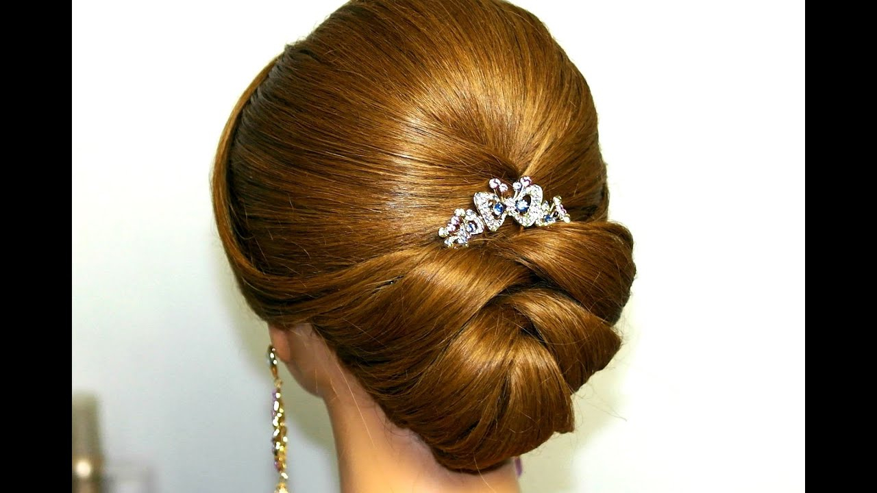 Most Popular Wedding Updos With Bow Design Inside Wedding Hairstyle For Medium Long Hair (View 4 of 20)