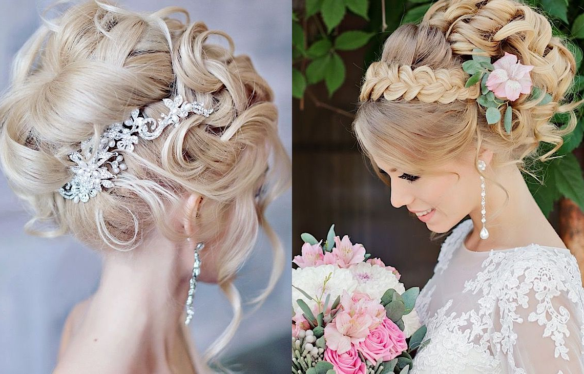 Most Recent Bold Blonde Bun Bridal Updos Pertaining To Glamorous Wedding Hairstyles With Elegance (View 10 of 20)