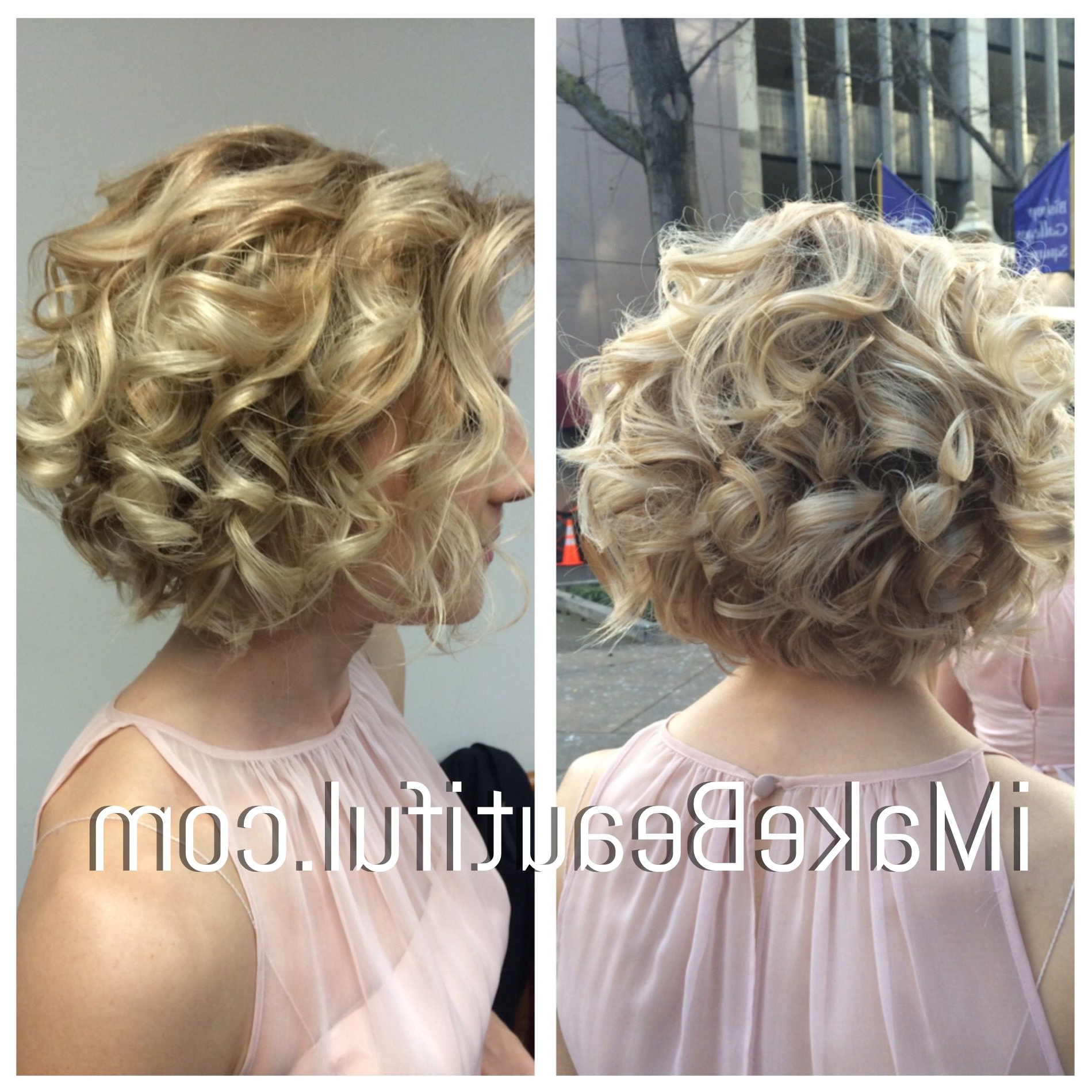 Most Recent Curly Bob Bridal Hairdos With Side Twists Intended For Bridal Hair For Short Hair (View 16 of 20)