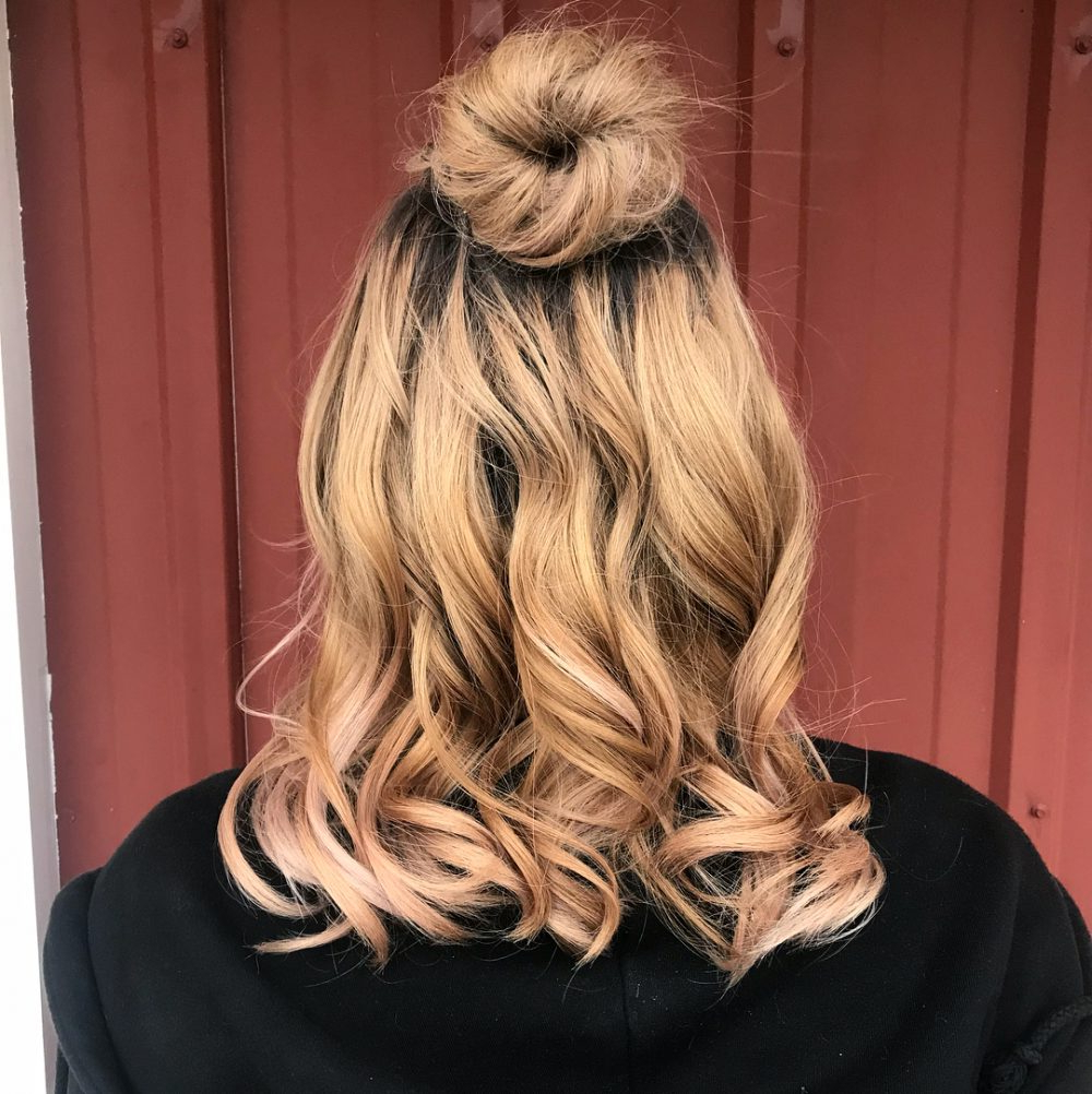 Most Recent Cute Formal Half Updo Hairstyles For Thick Medium Hair Regarding 32 Cutest Prom Hairstyles For Medium Length Hair For (View 9 of 20)