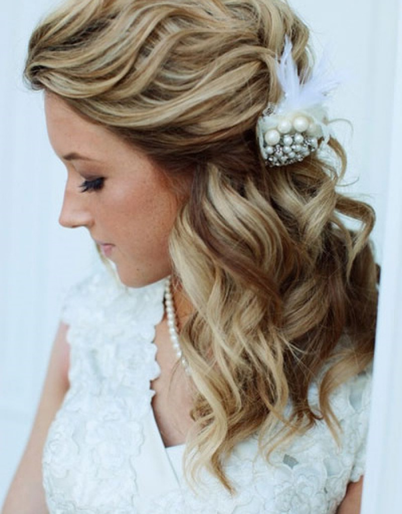 Featured Photo of Dimensional Waves In Half Up Wedding Hairstyles