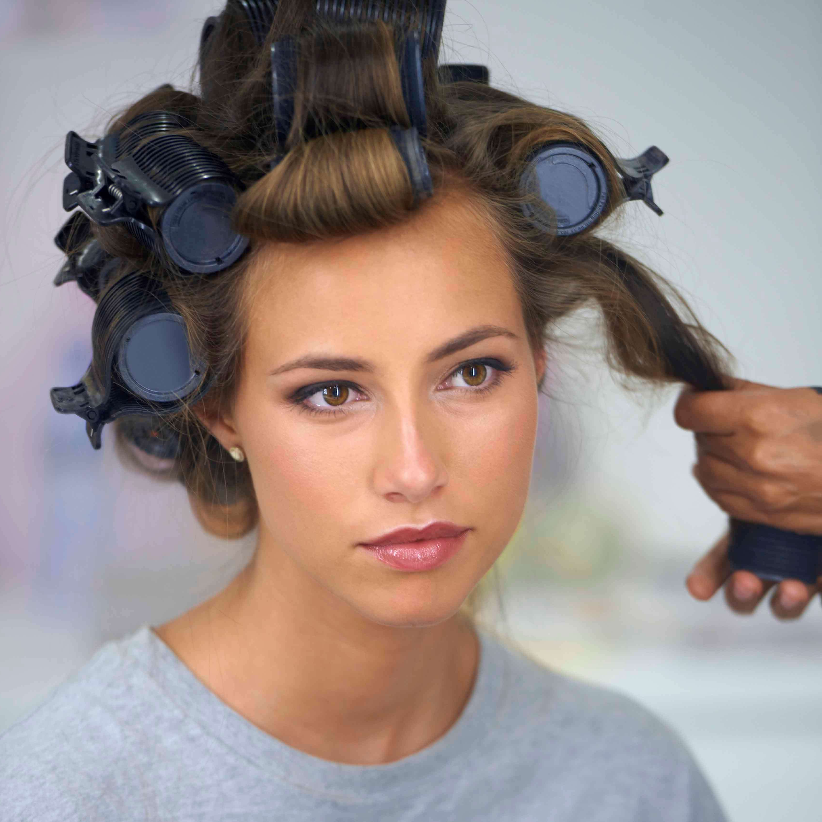 Most Recent Large Hair Rollers Bridal Hairstyles Within How To Use Hot Rollers: A Step By Step Guide (View 3 of 20)