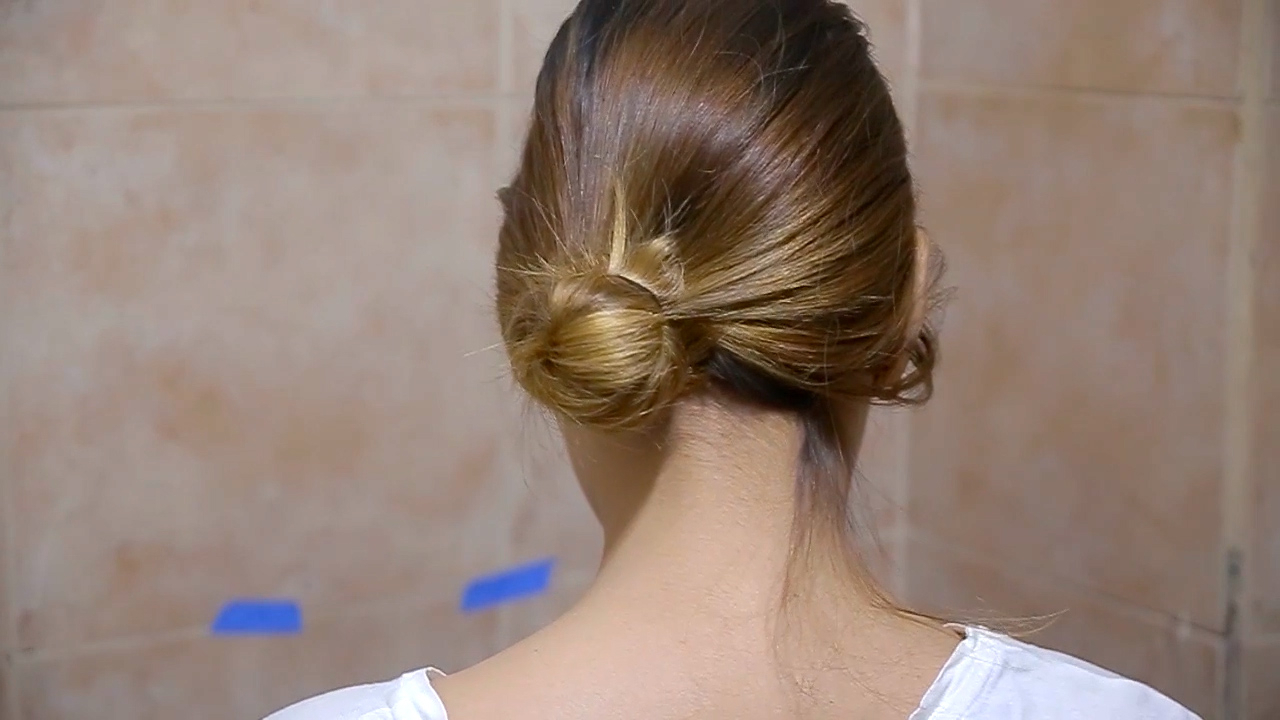 Most Recently Released Brushed Back Bun Bridal Hairstyles Inside 4 Ways To Do Your Hair In A Side Bun – Wikihow (View 8 of 20)