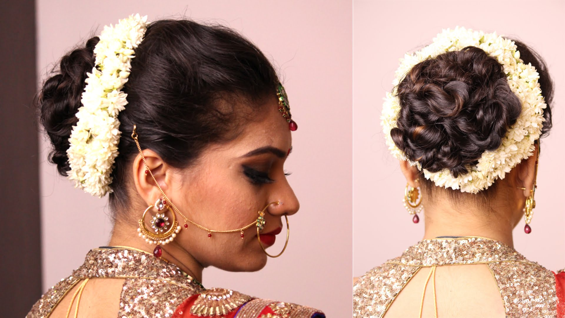 Most Recently Released Brushed Back Bun Bridal Hairstyles Regarding Simple Hair Buns For Sarees & Lehengas To Style Up Your Looks (View 9 of 20)