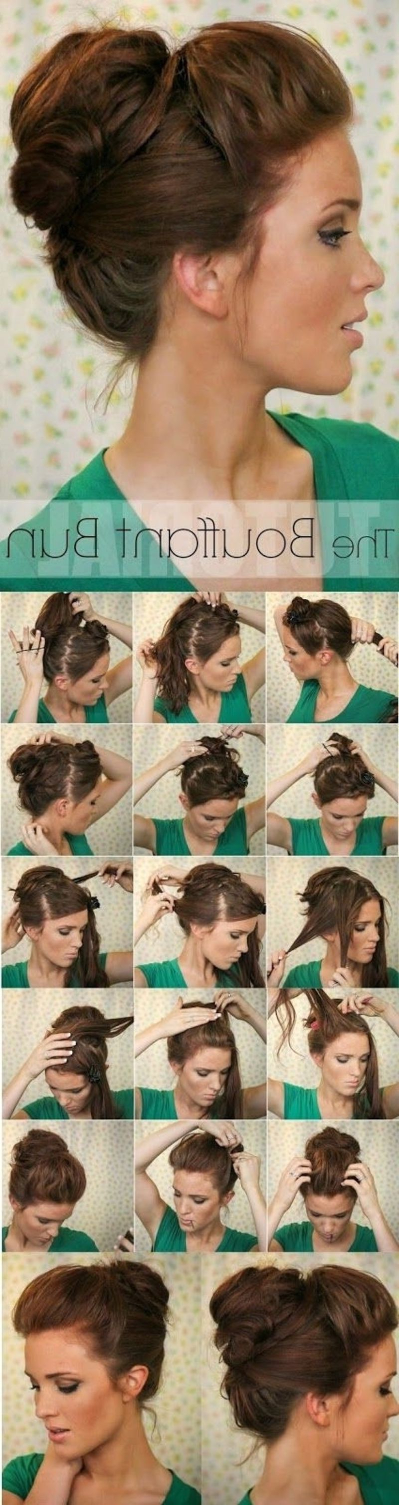 Most Recently Released Lovely Bouffant Updo Hairstyles For Long Hair Regarding  (View 11 of 20)
