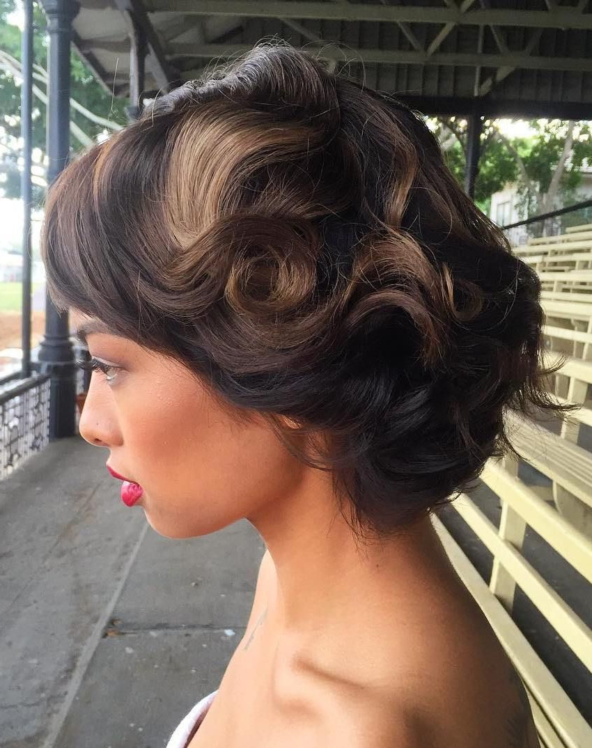 Featured Photo of Short Wedding Hairstyles With Vintage Curls