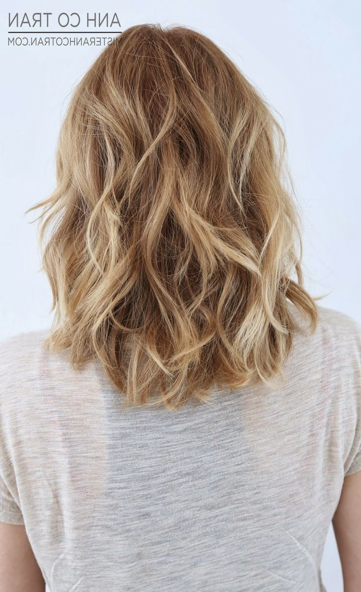 Most Recently Released Soft Shoulder Length Waves Wedding Hairstyles Intended For 18 Shoulder Length Layered Hairstyles (View 19 of 20)