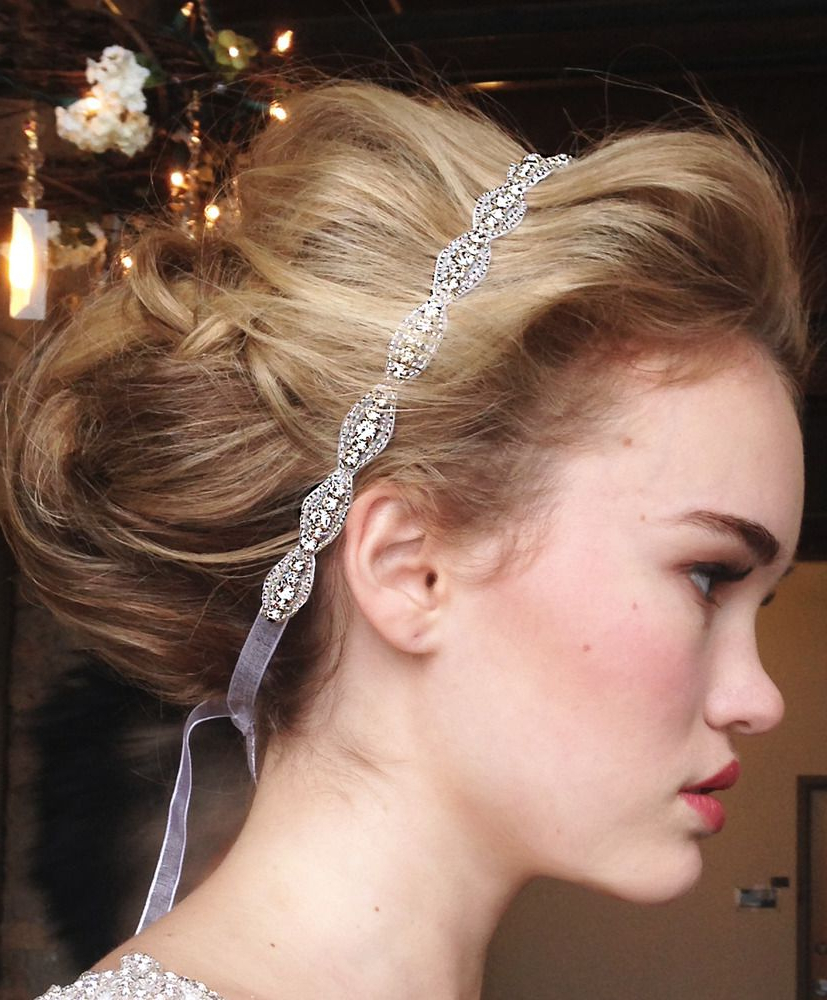 Most Recently Released Teased Wedding Hairstyles With Embellishment Pertaining To Pinkirsten Kuehn On Wedding Gifts (View 12 of 20)