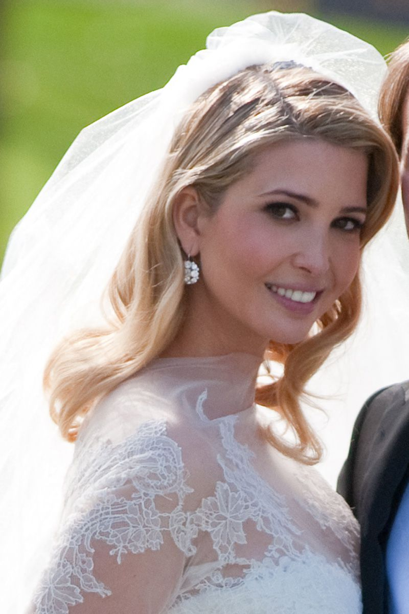 Most Up To Date Blonde Half Up Bridal Hairstyles With Veil In 52 Celebrity Wedding Beauty Looks – The Most Iconic Bridal Beauty (View 13 of 20)