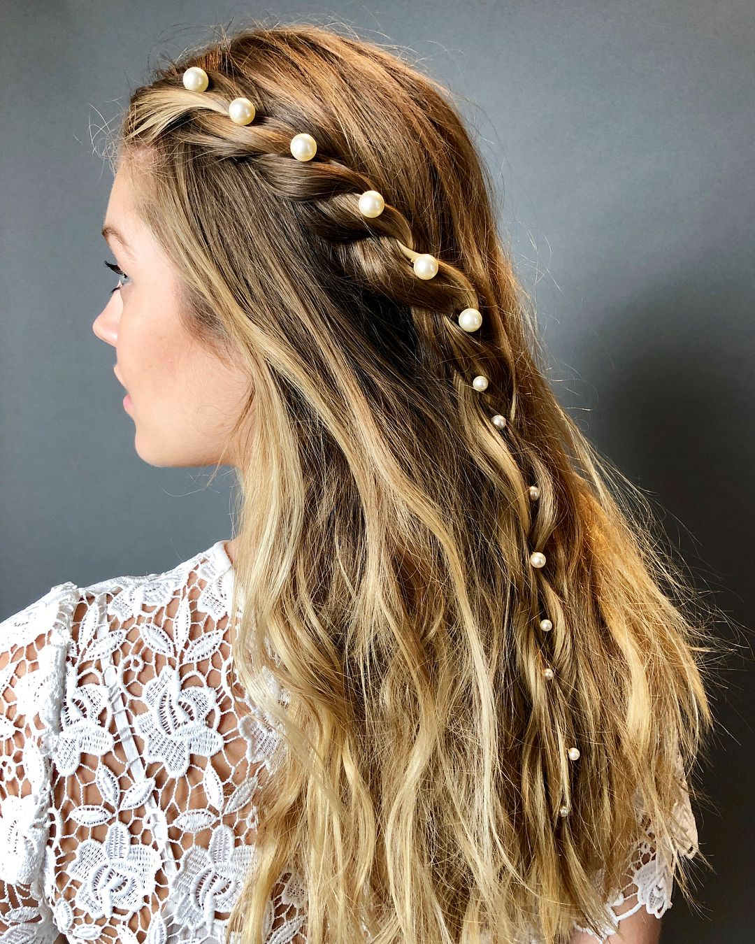 Most Up To Date Mermaid Inspired Hairstyles For Wedding For Jennifer Behr Perla Bobby Pin Set (View 3 of 20)