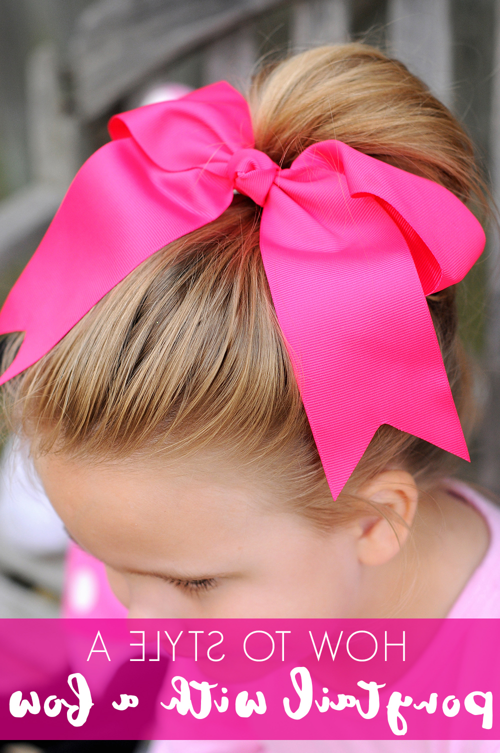 Most Up To Date Ponytail Bridal Hairstyles With Headband And Bow With Regard To Simple Ways To Use Hair Bows In Your Little Girl's Hair – The Hair (View 13 of 20)