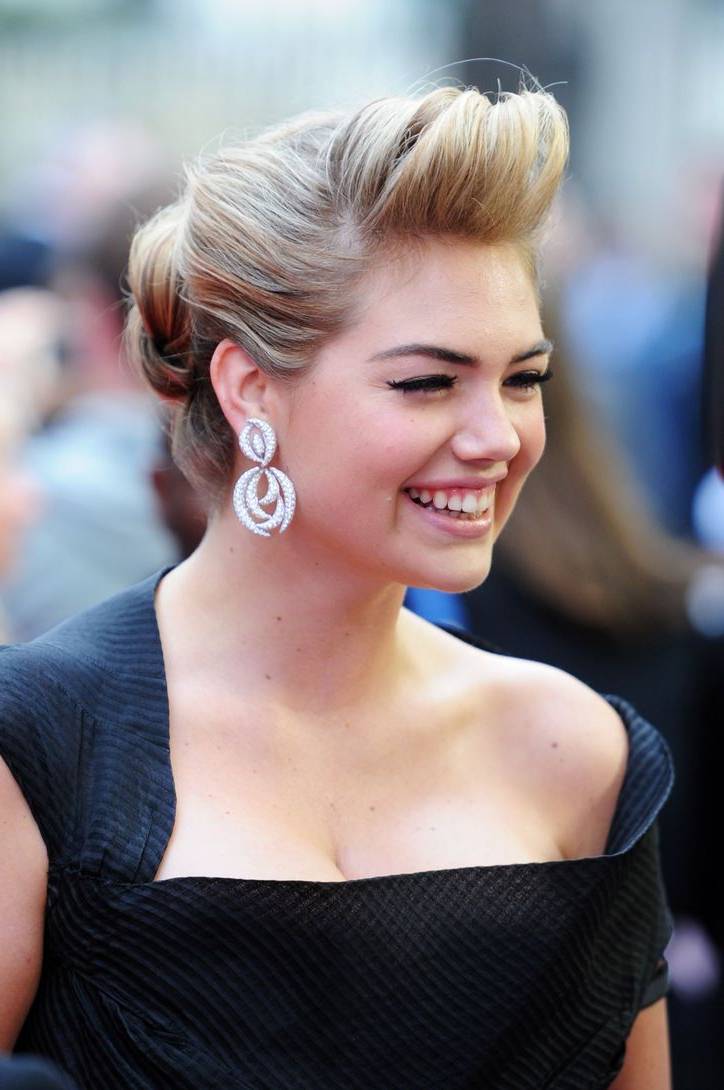 Most Up To Date Retro Glam Wedding Hairstyles Regarding What Kate Upton Did To Make This Regular Ol' Bun Retro Glam (View 13 of 20)