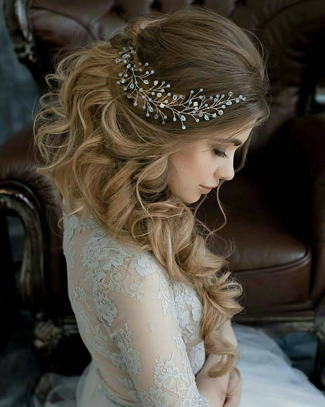 Most Up To Date Semi Bouffant Bridal Hairstyles With Long Bangs In 10 Lavish Wedding Hairstyles For Long Hair – Wedding Hairstyle Ideas (View 14 of 20)