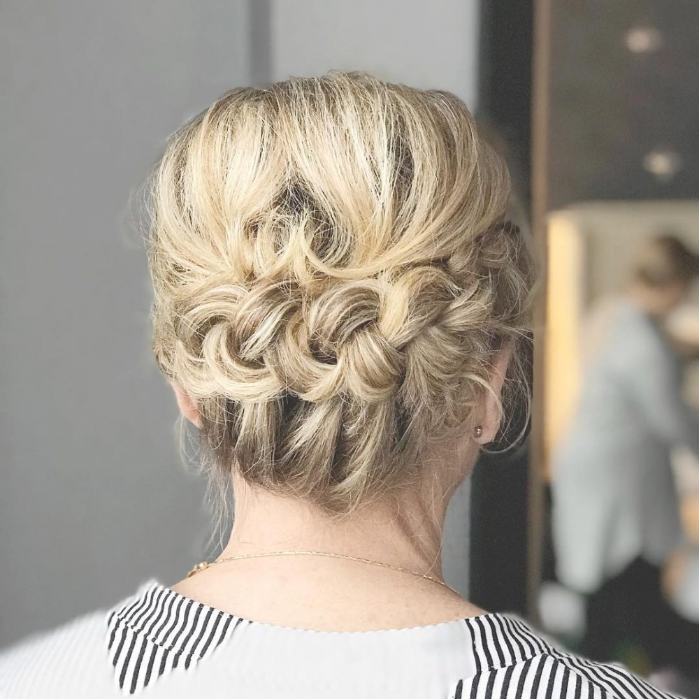 Mother Of The Bride Hairstyles: 24 Elegant Looks For 2019 In Recent Low Messy Bun Hairstyles For Mother Of The Bride (View 11 of 20)