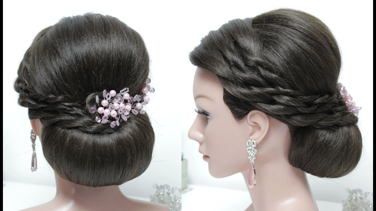 Featured Photo of Twisted Low Bun Hairstyles For Wedding