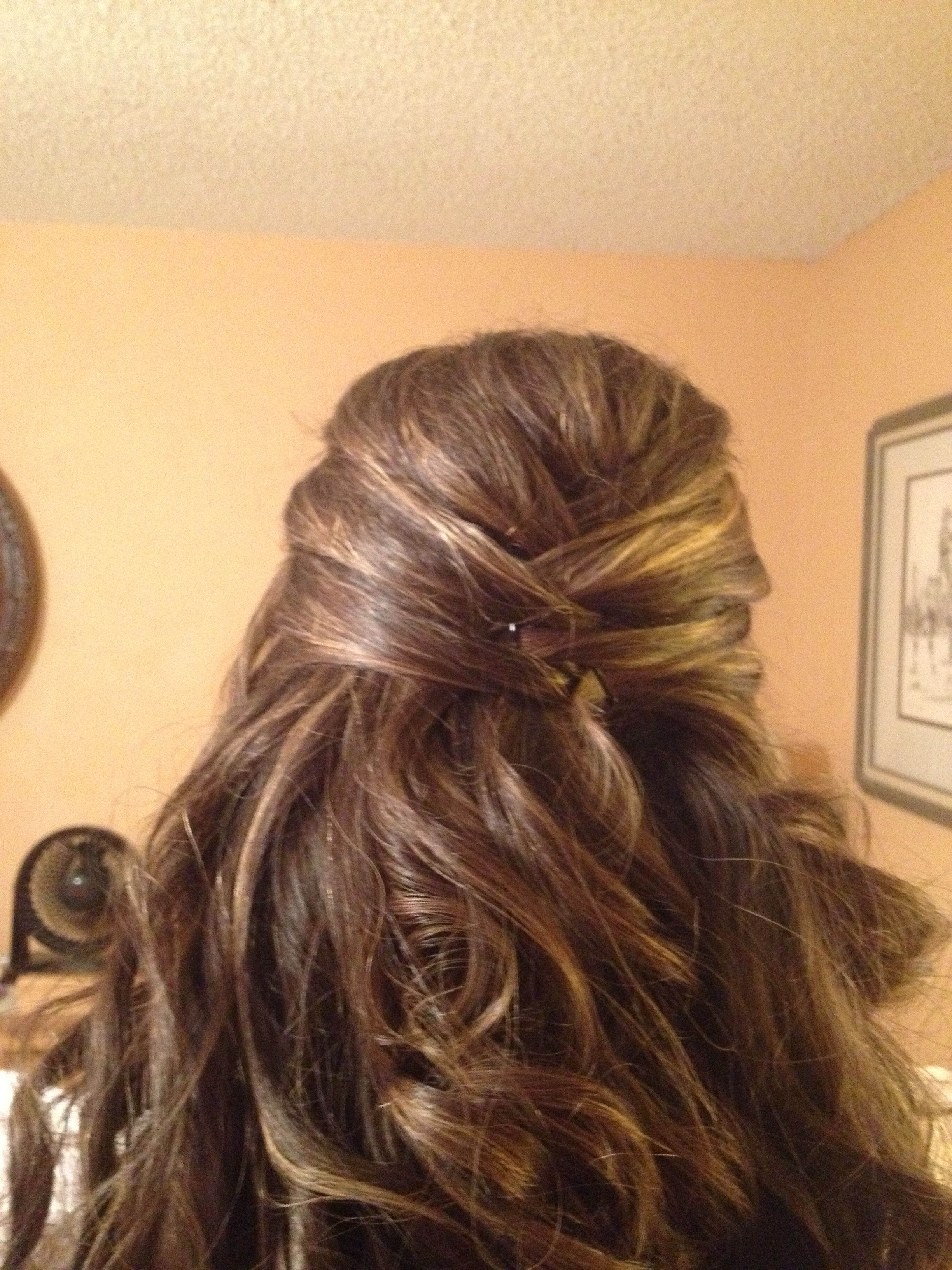 Newest Crisscrossed Half Up Wedding Hairstyles Throughout Criss Crossed Half Updo For Wedding (View 17 of 20)