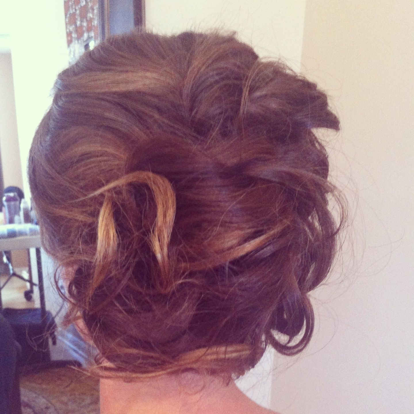 Newest Curls Clipped To The Side Bridal Hairstyles In Low Side Bun Loose Curls Pinned Up. Wedding Hair (View 8 of 20)