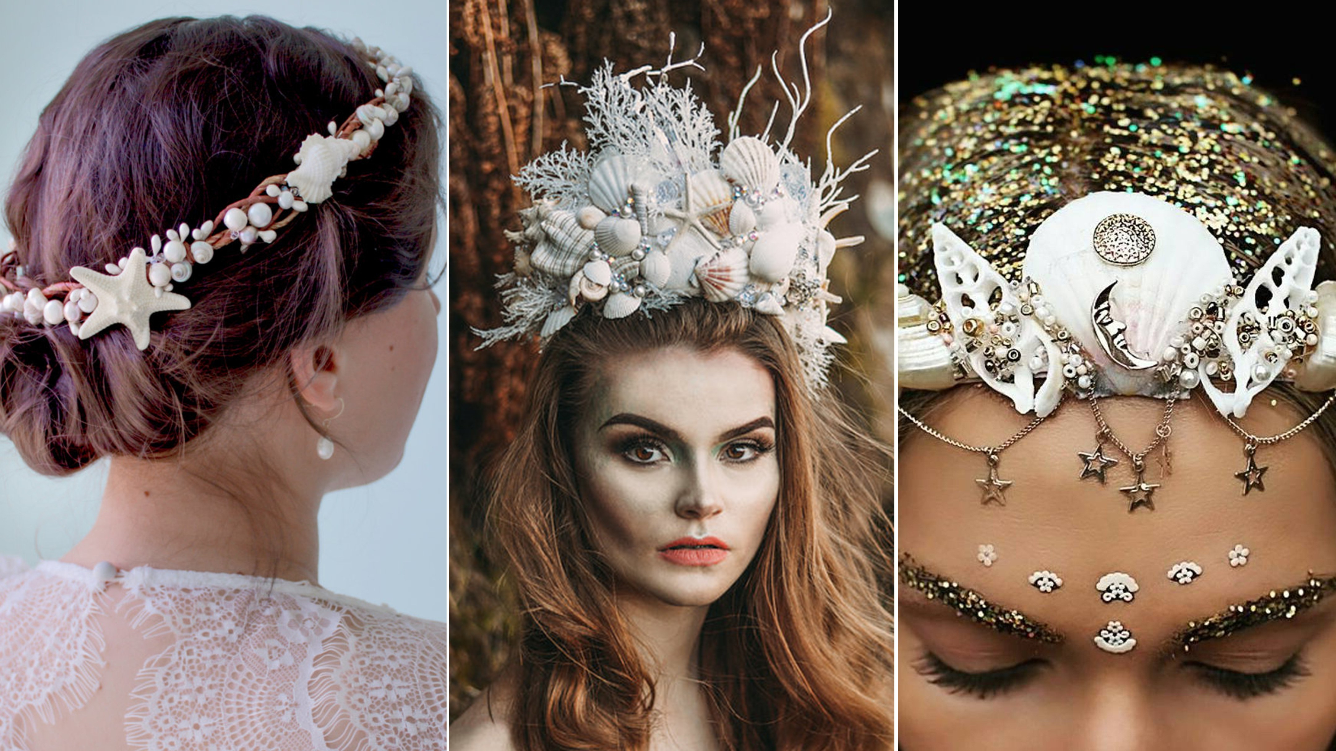 Newest Mermaid Inspired Hairstyles For Wedding In 10 Stunning Mermaid Crowns To Combat Your Flower Crown Fatigue – Allure (View 7 of 20)