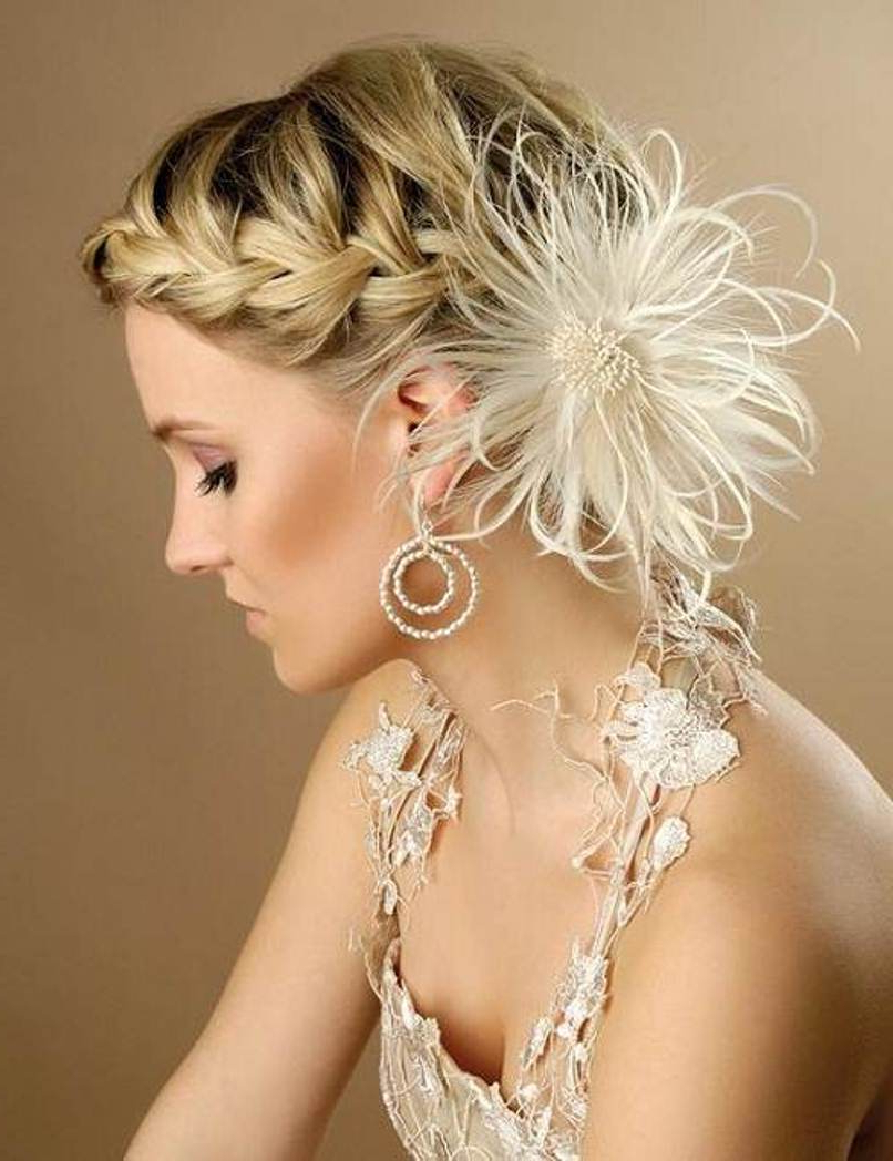 Newest Short Side Braid Bridal Hairstyles Intended For 15 Summer Wedding Hairstyles For Women To Look Hot – Haircuts (View 12 of 20)