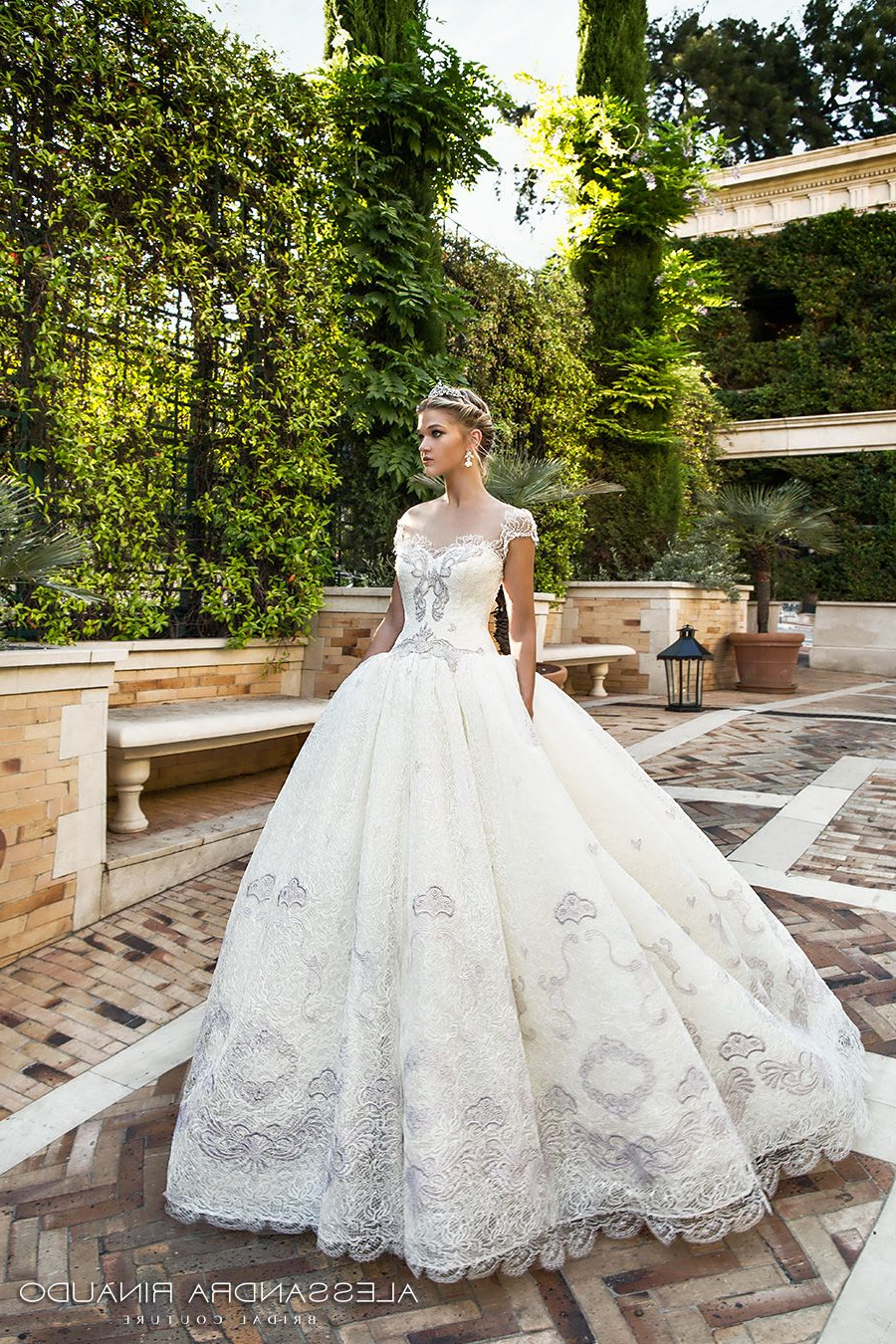 Newest Sleek And Big Princess Ball Gown Updos For Brides Pertaining To Alessandra Rinaudo 2017 Wedding Dresses — Gorgeous Italian Bridal (View 10 of 20)