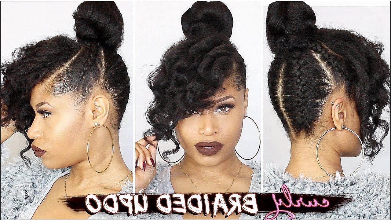 Newest Sleek French Knot Hairstyles With Curls Inside French Braided Curly Updo ➟ Natural Hair Tutorial – Youtube (View 5 of 20)
