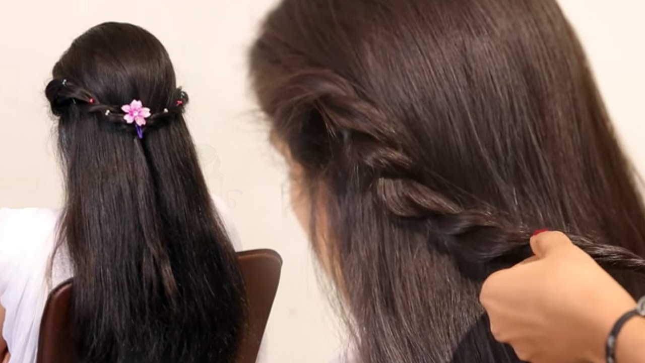 Newest Voluminous Half Ponytail Bridal Hairstyles Within Easy Prom Ponytail Hairstyle For Bride In Wedding (View 15 of 20)