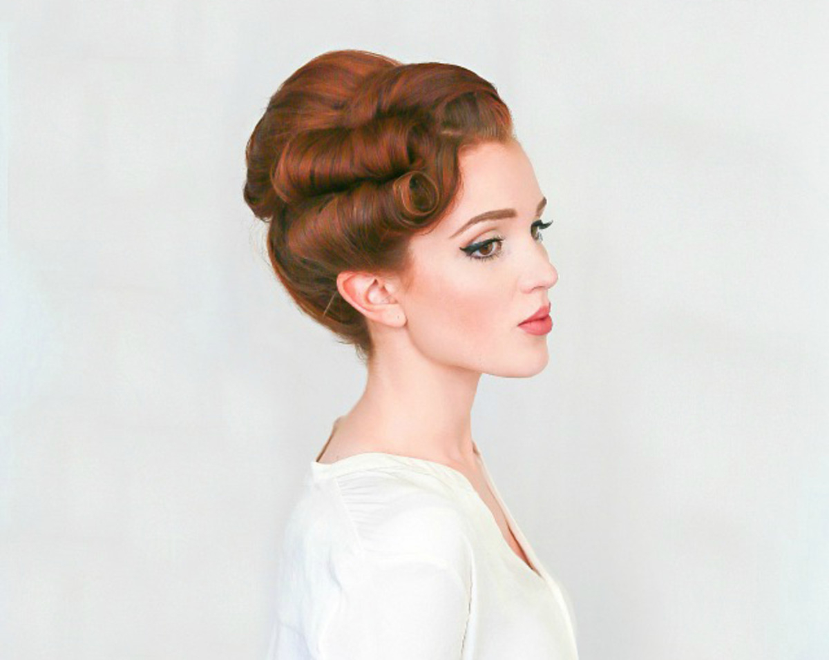 Our Favorite Bridal Hairstyles That You Can Totally Do Yourself – Verily Intended For Latest Sleek And Voluminous Beehive Bridal Hairstyles (Gallery 3 of 20)
