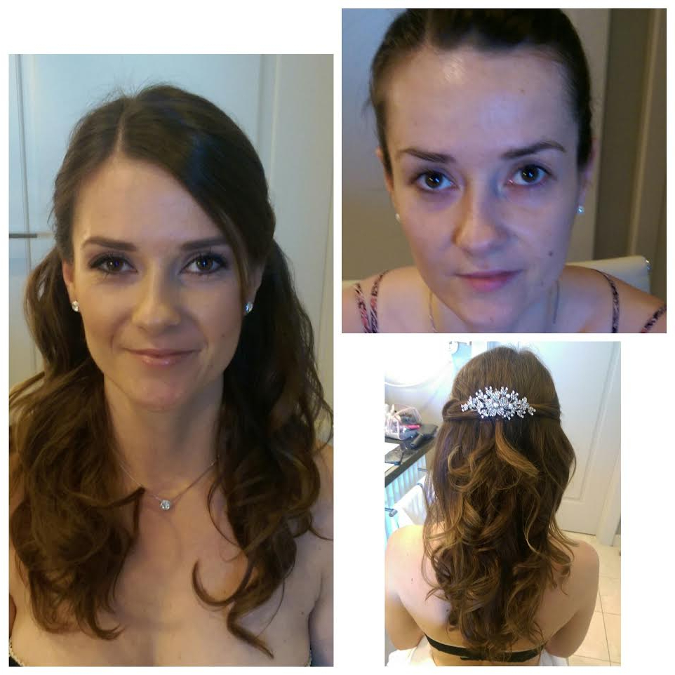Photo Gallery — Stevee Danielle Hair And Makeup / Top Hair And Pertaining To Most Popular Half Up Wedding Hairstyles With Jeweled Clip (View 16 of 20)