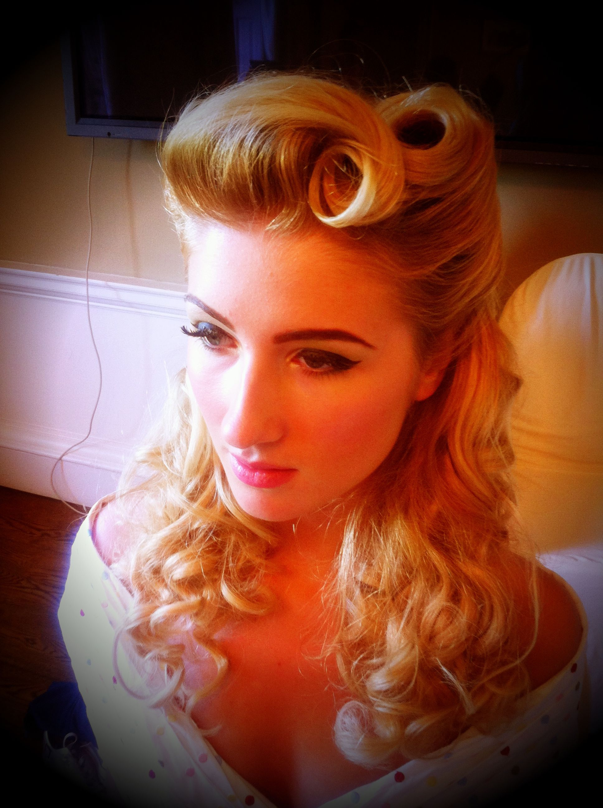 Pin Up Hair Modern 1940S Victory Rolls All For Mary ~ Redefining The Inside Famous Pin Up Curl Hairstyles For Bridal Hair (View 10 of 20)
